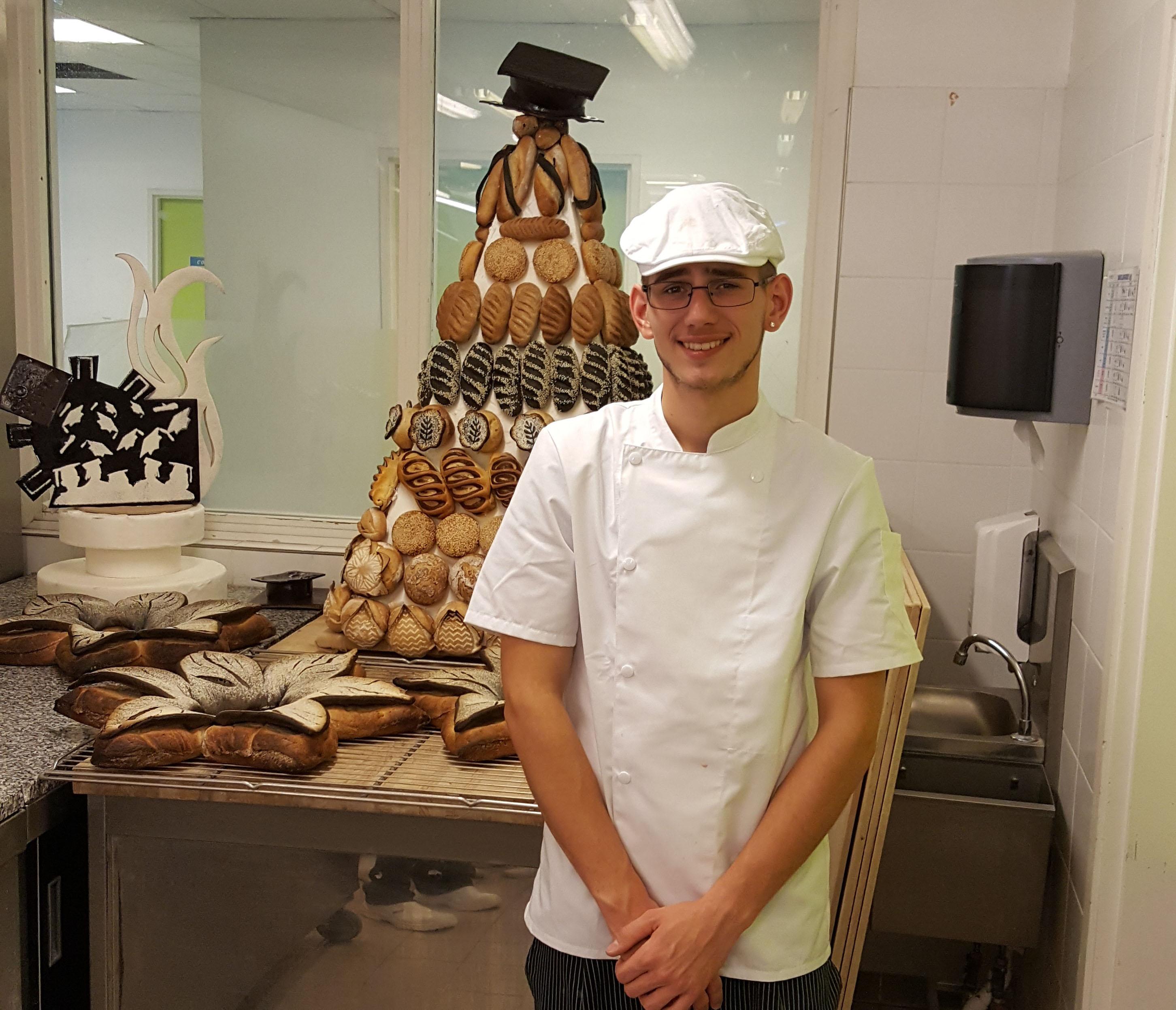 Jérémy, finaliste du concours<br>«Un des Meilleurs Jeunes Boulangers de France»