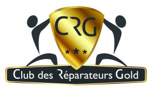 logo club des réparateurs gold