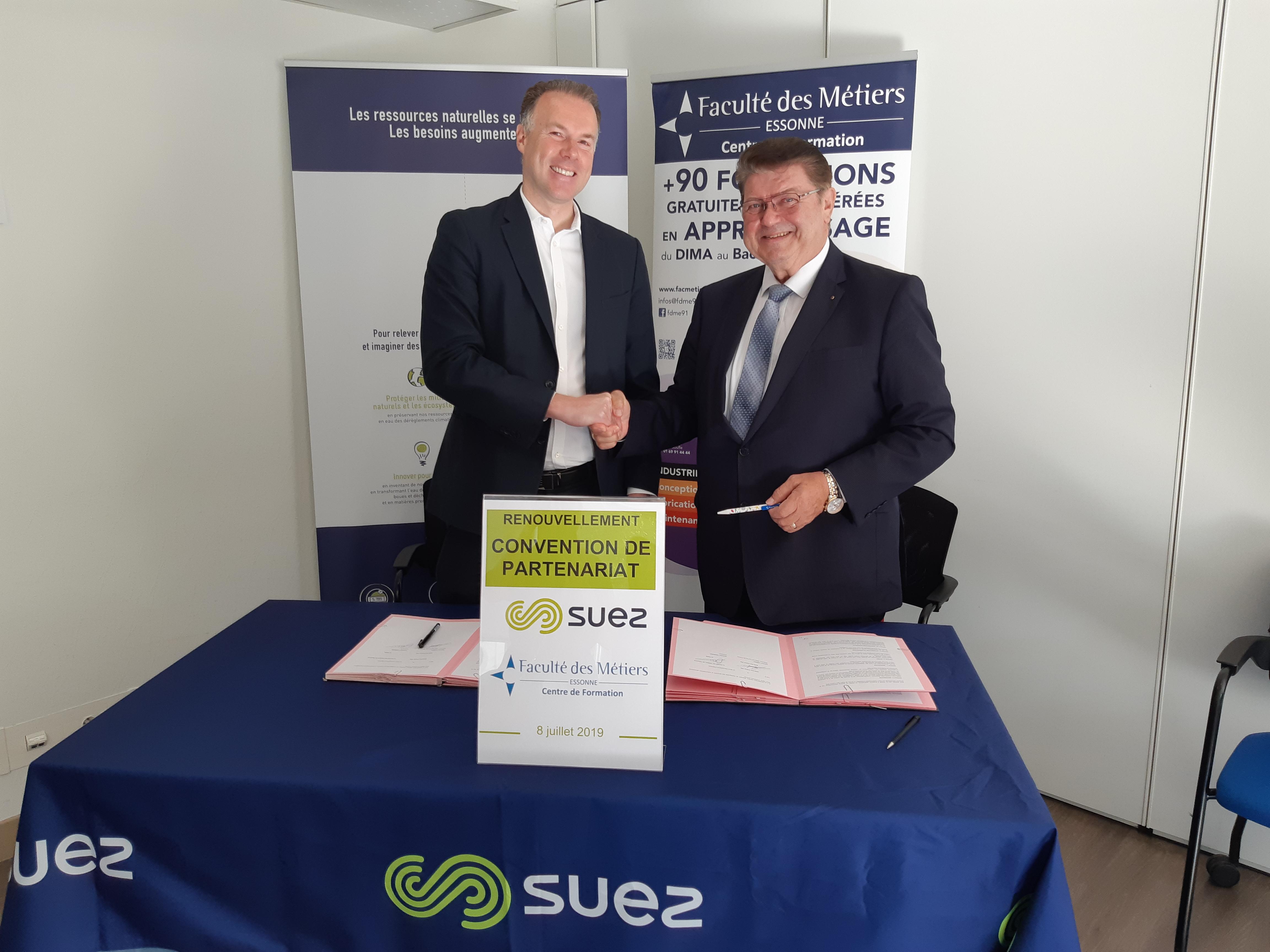 Renouvellement de convention de partenariat entre SUEZ et la FDME