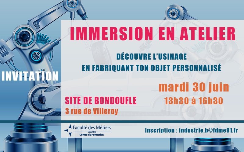 Immersion en atelier d'usinage