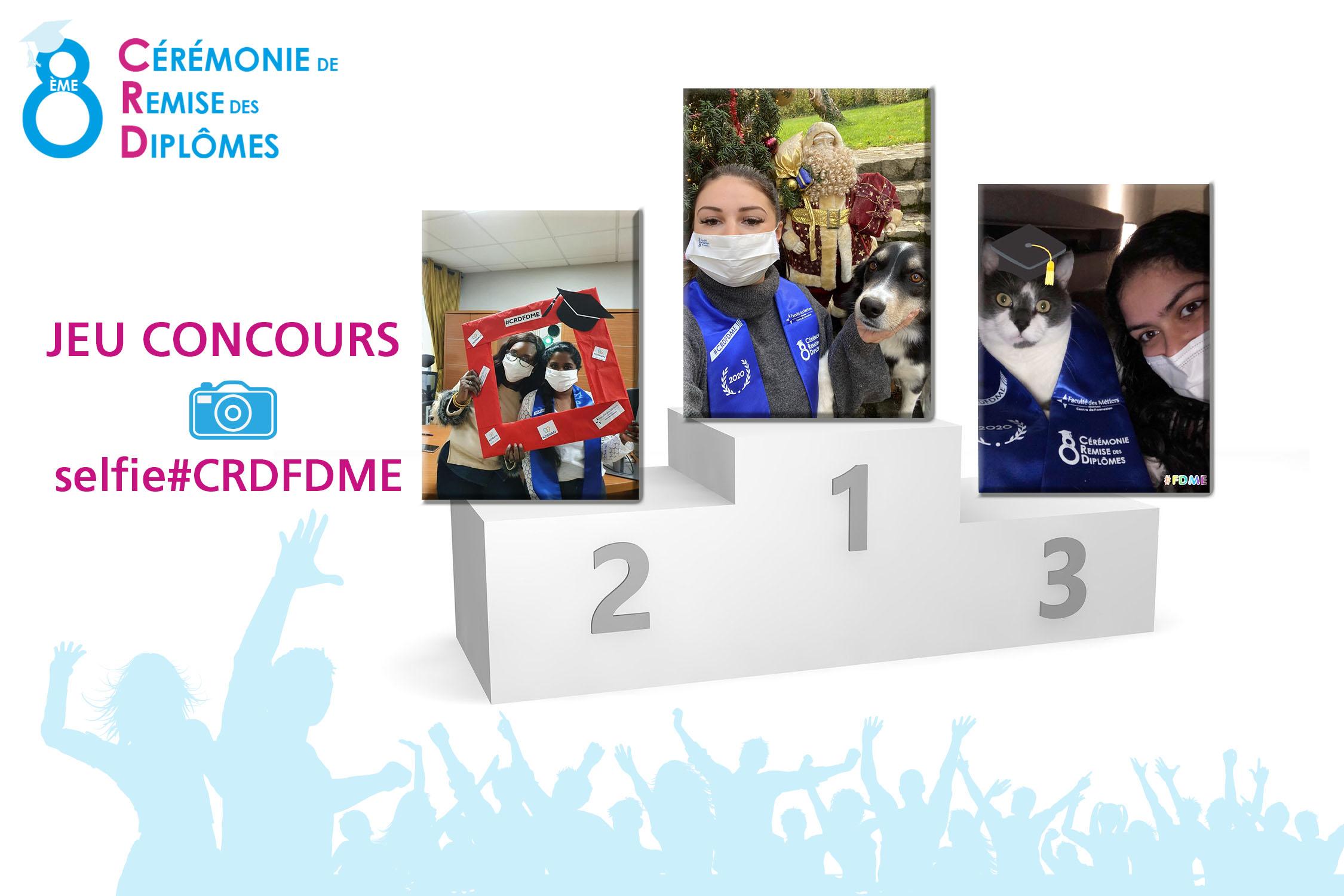 Les gagnantes masquées du concours photo 8<sup>ème</sup> CRD